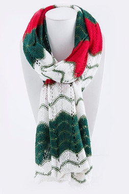 Special Occasion Holiday Knit Scarf