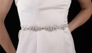 LC Bridal 1791BT - Rhinestone Jeweled Belt