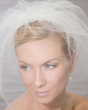 Bel Aire Bridal Comb 8797 - Face Veil with Comb (4 Colors Available)