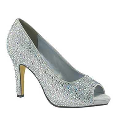Silver Eliza Touch Ups by Benjamin Walk 4007 - Fully Encrusted Stones
