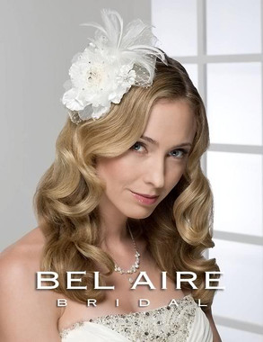 Bel Aire Bridal Accessory Headpiece 6230 - Embroidered Flower Comb