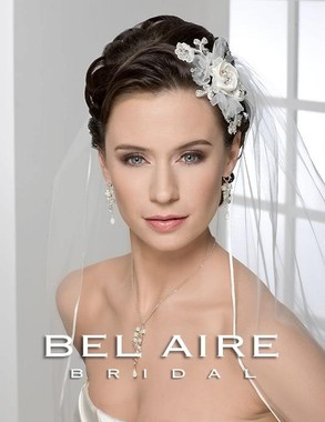 Bel Aire Bridal Accessory Headpiece 6234 - Side Comb of Satin Flower