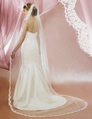 Symphony Bridal Wedding Veil - Style 5628VL - Cathedral Lace Edge
