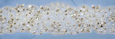 Elena Bridal Designs Wedding Sash Style E555- Lace Wedding Belt