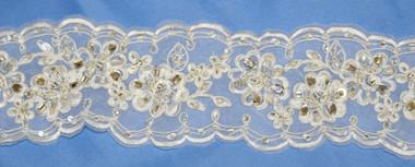 Elena Bridal Designs Wedding Sash Style E556 - Lace Wedding Belt