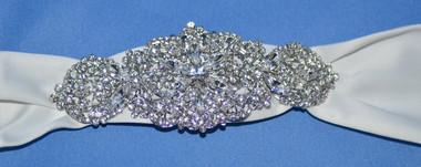 Elena Bridal Designs Wedding Sash Style E521 - Embellished Wedding Belt