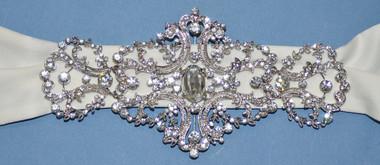 Elena Bridal Designs Wedding Sash Style E250 - Embellished Wedding Belt
