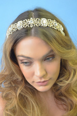Elena Designs E333 - La Reina Art Deco Headband