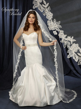 Symphony Bridal Wedding Veil - Style 6231VL - Cathedral Lace Edge