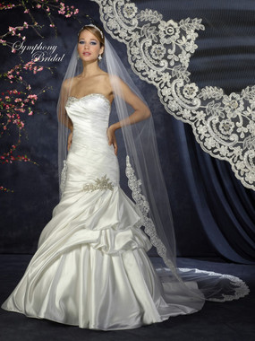 Symphony Bridal Wedding Veil - Style 6343VL - Cathedral Lace Edge