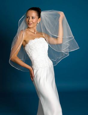Symphony Bridal Veil - Style 551VL - Two Tier Satin Edge