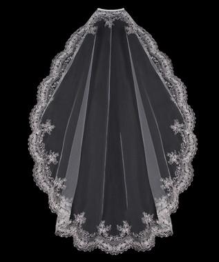 En Vogue Bridal Veil  Style V801SF - Mantilla Scalloped Edge