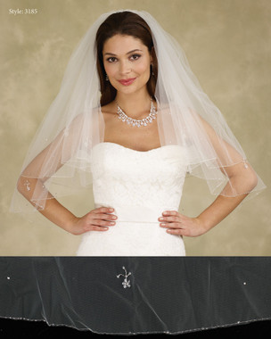 Marionat Bridal Veils 3185 - The Bridal Veil Company - Beaded Edge Veil