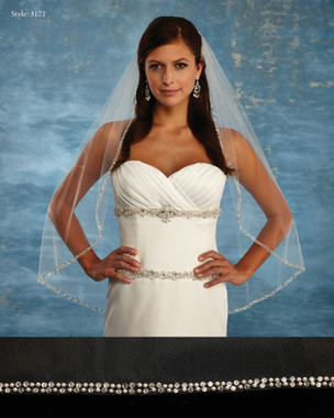 Marionat Bridal Veils 3171 - The Bridal Veil Company - Beaded Edge Veil