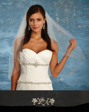 Marionat Bridal Veils 3167 - The Bridal Veil Company - Beaded Embellished Wedding Veil
