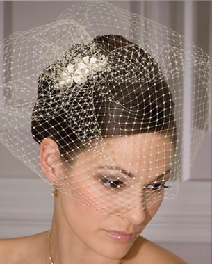 Bel Aire Bridal Headpiece 1960 - French Net
