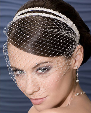 Bel Aire Bridal Accessory Headpiece 1970 - French Net