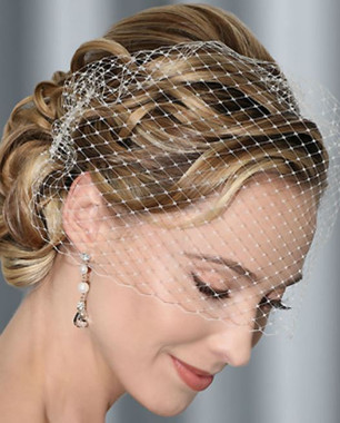 Bel Aire Bridal Headpiece 1997 - French Net