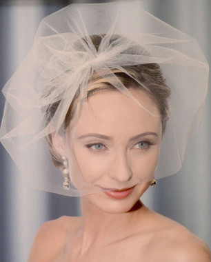 Bel Aire Bridal Headpiece 1998 - Tulle face veil