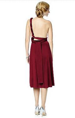 Maracaine Jersey Twist Wrap Dress Short by Dessy