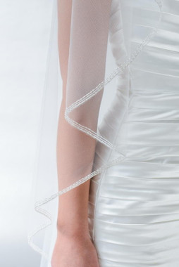 Erica Koesler Wedding Veil 837-108 - Flutter Edge w/ Border