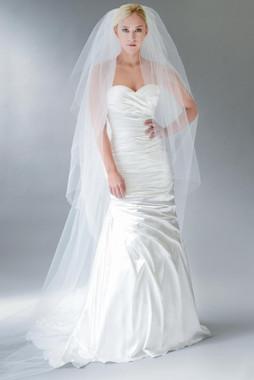 Erica Koesler Wedding Veil 840-100 - Two Tier w/ Cut Edge