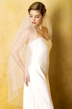 """Erica Koesler Wedding Veil 531-40 - One Tier - 40"""" inches Long"""