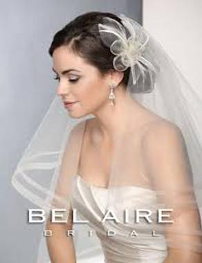 Bel Aire Bridal Wedding Veil V7192 - Two Tier Waltz Double Row Horsehair Edge