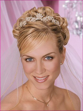 Bel Aire Bridal Wedding Veil V8228 - Two Tier Elbow Metallic Rolled Edge