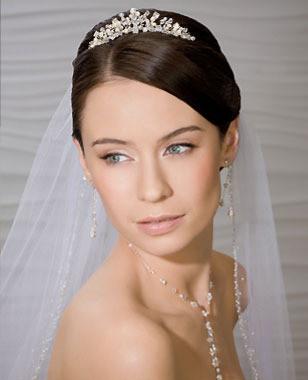 Bel Aire Bridal Wedding Veil V8377 - One Tier Fingertip w/ Beaded Edge