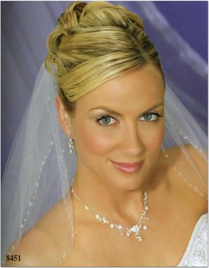 Bel Aire Bridal Wedding Veil V8451 - Two Tier Fingertip w/ Crystal Edge