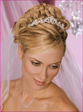 "Bel Aire Bridal Accessory Veil V9965 - Two Tier Elbow 3/8"" Organza Ribbon Edge"