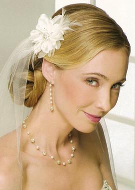 Bel Aire Bridal Wedding Veil V9994 - One Tier Elbow Length Cut Edge
