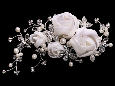 En Vogue Bridal Hair Flower FL1341 - Fabric Flower