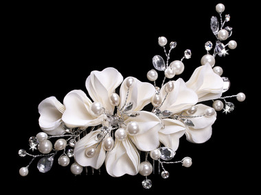 En Vogue Bridal Hair Flower FL1345 - Fabric Flower