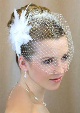 LC Bridal Style V1550-230 - French Net Veil w/ Beaded Rhinestones