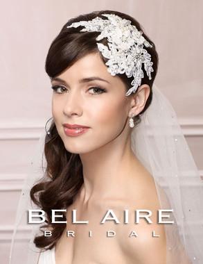 Bel Aire Bridal Accessory Headpiece 6456 - Lace Fascinator Clip