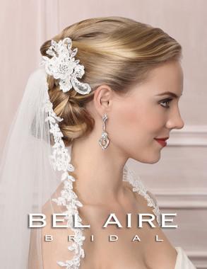 Bel Aire Bridal Accessory Headpiece 6462 - Lace Flower Comb