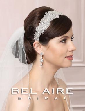 Bel Aire Bridal Accessory Headpiece 6471 Beaded Tie Headband