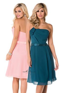 Milano Formals E1379 - Strapless Straight Neckline Flower Embroidered Dress