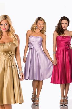 Milano Formals E1285 - Short Soft Sweetheart Neckline Bridesmaid Dress