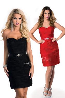 Milano Formals E1544 - Sweetheart Strapless Short Embellished Dress