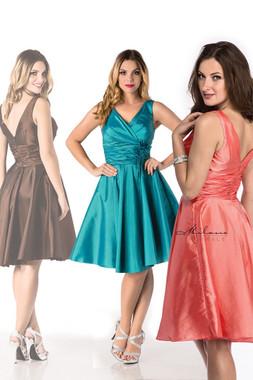 Milano Formals E1463 - V-neckline Sleeveless Flower Embellishment Dress