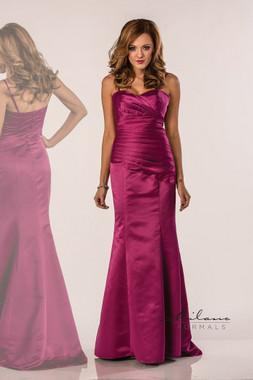 Milano Formals E1013 - Strapless Long Bridesmaid Trumpet Gown