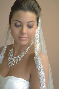 Ansonia Bridal Veil Style 620 - One Tier Fingertip w/ Sequin Edge