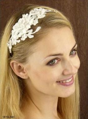 LC Bridal Headband Style 1819 - Appliques w/ Austrian Rhinestone