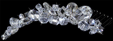 LC Bridal Comb Style 1800 - Rhinestones w/ Crystal Beads