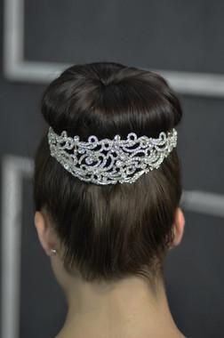 Elena Designs E780-  Jeweled Hairband - Bun Wrap