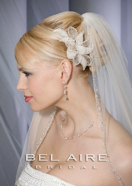 "Bel Aire Bridal Veils V7056 - Elbow Length - 32"" Inches Long"