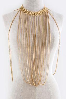 Gold Fringe Rope Body Chain Jacket
